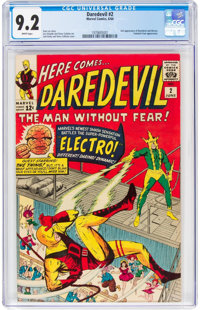Daredevil #2 (Marvel, 1964) CGC NM- 9.2 White pages