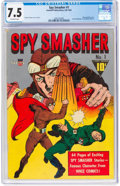 Golden Age (1938-1955):Adventure, Spy Smasher #1 (Fawcett Publications, 1941) CGC VF- 7.5 Off-white pages.