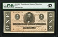 Confederate Notes:1864 Issues, As Made Gutter Fold T71 $1 1864 PF-12 Cr. 574 PMG Uncirculated 62.. ...