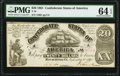 Confederate Notes:1861 Issues, T18 $20 1861 PF-7 Cr. 107 PMG Choice Uncirculated 64 EPQ.. ...