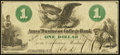 Obsoletes By State:New York, Syracuse, NY- Ames' Business College Bank $1 Oct. 19, 1864 About Uncirculated.. ...