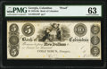 Obsoletes By State:Georgia, Columbus, GA- Bank of Columbus $5 18__ G24 Proof PMG Choice Uncirculated 63.. ...