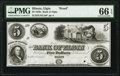 Obsoletes By State:Illinois, Elgin, IL- Bank of Elgin $5 18__ as G8a Proof PMG Gem Uncirculated 66 EPQ.. ...