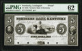Obsoletes By State:Kentucky, Lexington, KY- Northern Bank of Kentucky $5 18__ G344 Hughes 444 Proof PMG Uncirculated 62.. ...