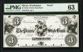 Obsoletes By State:Illinois, Washington, IL- Prairie State Bank $3 185_ G4 Proof PMG Choice Uncirculated 63.. ...