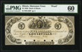 Obsoletes By State:Illinois, Shawneetown, IL- Bank of Illinois at Louisville (KY) office $5 18__ G160 Proof PMG Uncirculated 60.. ...