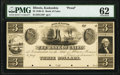 Obsoletes By State:Illinois, Kaskaskia, IL- Bank of Cairo $3 as G18 Proof PMG Uncirculated 62.. ...