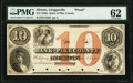 Obsoletes By State:Illinois, Griggsville, IL- Bank of Pike County $10 18__ as G10a Proof PMG Uncirculated 62.. ...