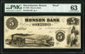 Obsoletes By State:Massachusetts, Monson, MA- Monson Bank $5 18__ as G10 Proof PMG Choice Uncirculated 63.. ...