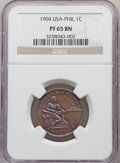 Philippines: USA Administration Proof Centavo 1904 PR65 Brown NGC