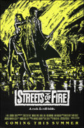 """Movie Posters:Action, Streets of Fire (Universal, 1984). Rolled, Very Fine+. One Sheet (27"""" X 41"""") SS Advance Green Style. Action.. ..."""