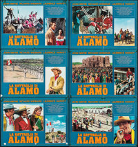 "The Alamo (Trianon, 1961). Folded, Fine+. Italian Photobustas (6) (26.5"" X 18.75""). Western. ... (Total: 6 Ite..."