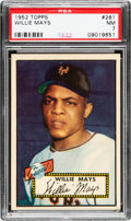 Baseball Cards:Singles (1950-1959), 1952 Topps Willie Mays #261 PSA NM 7....
