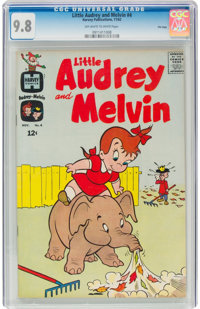 Little Audrey and Melvin #4 - FILE COPY (Harvey, 1962) CGC NM/MT 9.8 Off-white to white pages
