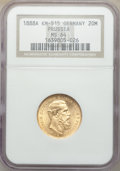 German States: Prussia. Friedrich III gold 20 Mark 1888-A MS64 NGC