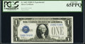 Small Size:Silver Certificates, Fr. 1602 $1 1928B Silver Certificate. Z-B Experimental. PCGS Gem New 65PPQ.. ...