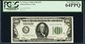 Fr. 2151-G $100 1928A Dark Green Seal Federal Reserve Note. PCGS Very Choice New 64PPQ