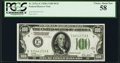 Fr. 2151-E $100 1928A Dark Green Seal Federal Reserve Note. PCGS Choice About New 58