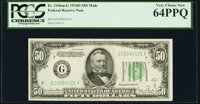 Fr. 2106-G $50 1934D Mule Federal Reserve Note. PCGS Very Choice New 64PPQ