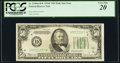 Small Size:Federal Reserve Notes, Fr. 2105-D* $50 1934C Mule Federal Reserve Star Note. PCGS Very Fine 20.. ...