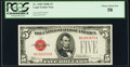 Fr. 1530 $5 1928E Legal Tender Note. PCGS Choice About New 58