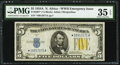Fr. 2307* $5 1934A North Africa Silver Certificate Star. PMG Choice Very Fine 35 EPQ