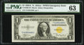 Fr. 2306 $1 1935A North Africa Silver Certificate. F-C Block. PMG Choice Uncirculated 63