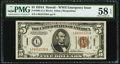 Fr. 2302 $5 1934A Hawaii Federal Reserve Note. PMG Choice About Unc 58 EPQ