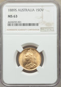 Australia: Victoria gold Sovereign 1889-S MS63 NGC