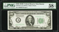 Fr. 2154-A $100 1934B Federal Reserve Note. PMG Choice About Unc 58 EPQ