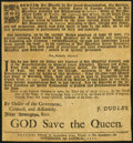 Miscellaneous:Other, Rare Broadside Proclamation Regulating Colonial Currency 1705.. ... (Total: 3 items)