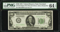 Fr. 2152-D $100 1934 Dark Green Seal Mule Federal Reserve Note. PMG Choice Uncirculated 64 EPQ