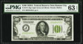 Small Size:Federal Reserve Notes, Fr. 2151-J $100 1928A Light Green Seal Federal Reserve Note. PMG Choice Uncirculated 63 EPQ.. ...
