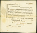 Colonial Notes:Mixed Colonies, Blodget Canal Company Stock Certificate 1 Share Feb. 1, 1799 Extremely Fine.. ...