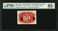 Fr. 1314 M-2E50R.3a Experimental 50¢ Second Issue PMG Gem Uncirculated 65 EPQ