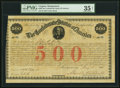 Confederate Notes:Group Lots, Ball 14 Cr. 3 $500 1861 Bond PMG Choice Very Fine 35 Net.. ...
