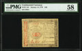 Colonial Notes:Continental Congress Issues, Continental Currency January 14, 1779 $40 PMG Choice About Unc 58.. ...