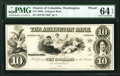 Obsoletes By State:District of Columbia, Washington, DC- Arlington Bank $10 185_ UNL Proof PMG Choice Uncirculated 64 EPQ.. ...
