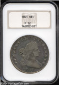 Early Dollars: , 1801 S$1 Fine 12 NGC....