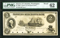 Obsoletes By State:District of Columbia, Washington, DC- Farmers and Merchants Bank $2 18__ as G20 Proof PMG Uncirculated 62.. ...