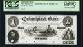 Obsoletes By State:Connecticut, New Haven, CT- Quinnipiack Bank $1 18__ as G22a Proof PCGS Very Choice New 64PPQ.. ...
