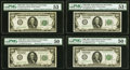 Small Size:Federal Reserve Notes, Fr. 2150-K $100 1928 Federal Reserve Notes. Twelve Examples. PMG Graded About Uncirculated 50-53 EPQ.. ... (Total: 12 notes)