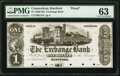 Obsoletes By State:Connecticut, Hartford, CT- Exchange Bank $1 18__ as G12 Proof PMG Choice Uncirculated 63.. ...
