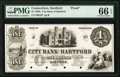 Obsoletes By State:Connecticut, Hartford, CT-City Bank of Hartford $1 18__ as G2 Proof PMG Gem Uncirculated 66 EPQ.. ...