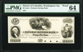 Obsoletes By State:District of Columbia, Washington City, DC- Potomac Savings Bank 25¢ Mar. 1, 1851 UNL Proof PMG Choice Uncirculated 64.. ...