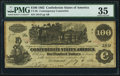 Confederate Notes:1862 Issues, CT39/290 Contemporary Counterfeit $100 1862 PMG Choice Very Fine 35.. ...