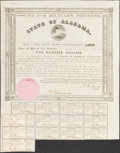 Obsoletes By State:Alabama, (Montgomery, AL)- State of Alabama $500 1861 Bond Cr. 61A Fine-Very Fine.. ...