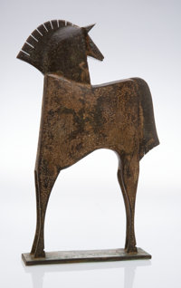 Carlos Mata (1949-2008) Horse Bronze with green patina 24 x 13-1/4 x 3-1/4 inches (61.0 x 33.7 x