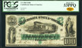Confederate Notes:1861 Issues, T5 $100 1861 PF-1 Cr. 5 PCGS About New 53PPQ.. ...