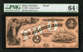 Obsoletes By State:Maine, Portland, ME- Atlantic Bank $2 18__ as G4 as Wait 13 Proof PMG Choice Uncirculated 64 EPQ.. ...